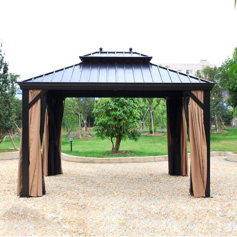 Ξ3*3.6 meter deluxe haute qualité métal canopy sunjoy en plein air ...