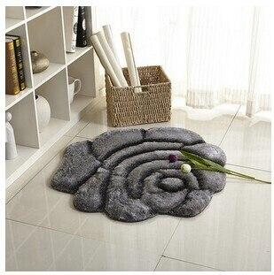 3D стерео ковер с розами журнальный столик для гостиной коврик диван кровать спальня коврики Европейская мода на заказ ковер - Цвет: Gray