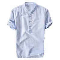 Мужская футболка с коротким рукавом Нижняя рубашка платье Лето круглый вырез Половина рукава чистый белый пять рукав свободный