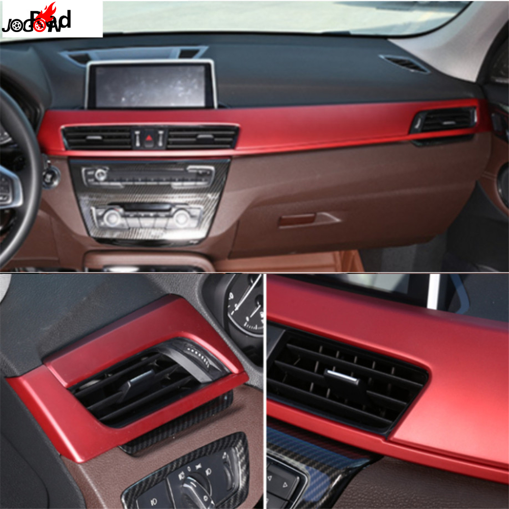 Interior Trim For BMW X1 F48 2016 2017 LHD Front Central Console Dashboard Air Condition Air Vent AC Outlet Trim Cover Stripe interior vent outlet cover trim 7pcs for lexus rx200t rx450h 2016 left hand drive car