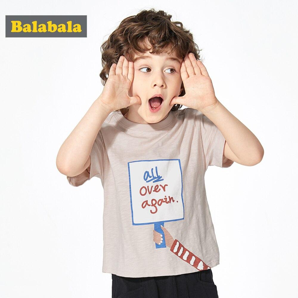 Tshirt Baby Flower Balabalaboys Short-Sleeve Children Cotton Summer New Fashion And Bamboo