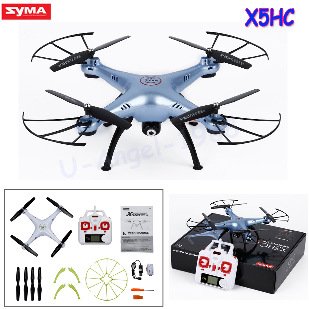 SYMA X5HC 2.0MP HD Camera RC Quadcopter with 360 Degree Eversion Headless Mode High Hold Mode Function 2.4GHz 4CH 6 Axis Drone syma x5sw 4ch 2 4ghz 6 axis rc quadcopter with hd camera hovering headless mode rc drone 1200mah battery prop 4pcs motor 2pcs