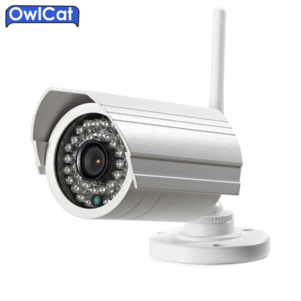 OwlCat Outdoor Bullet IP Camera WIFI HD 1080p Wireless IR Audio Microphone CCTV Security Camera SD Card Slot iPhone Android bullet camera tube camera headset holder with varied size in diameter