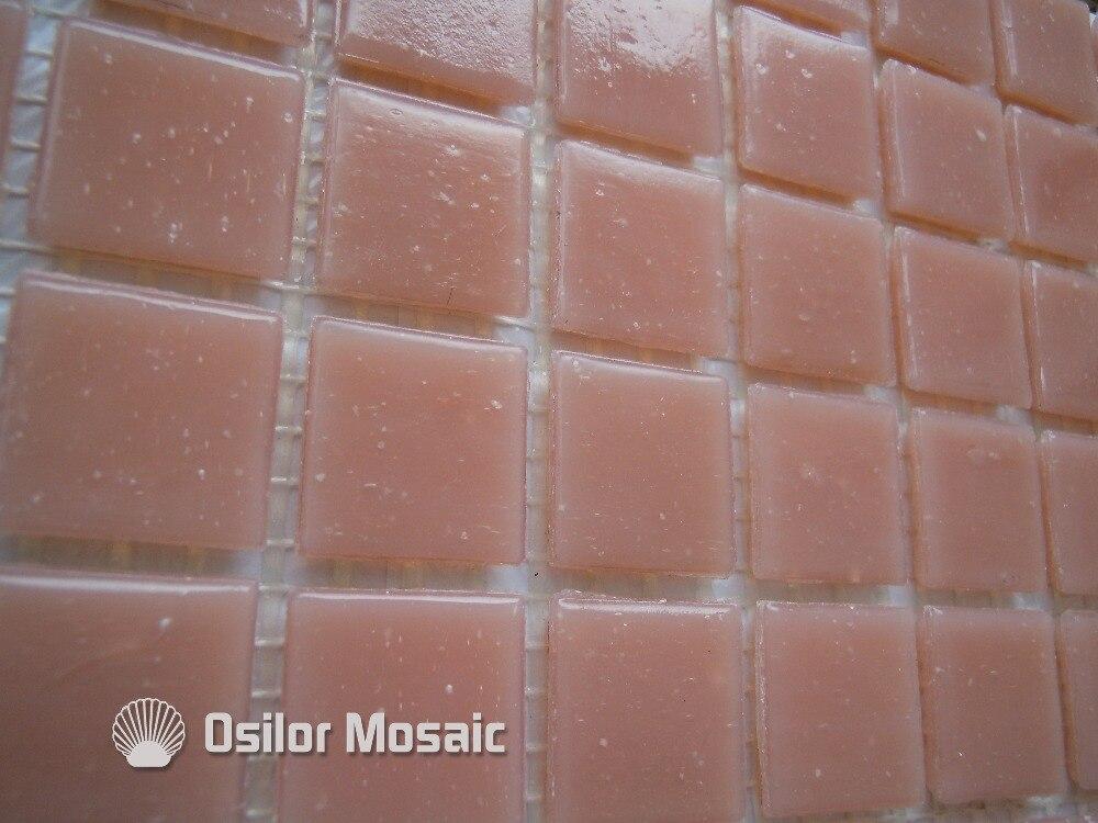 Spedizione gratuita rosa piastrella a mosaico in vetro piastrella