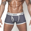 Pink Hero Cotton Men's Boxer Shorts Free Shipping Famous Brand Sexy Striped Men's Underwear Hot Selling P1203 Dropshipping