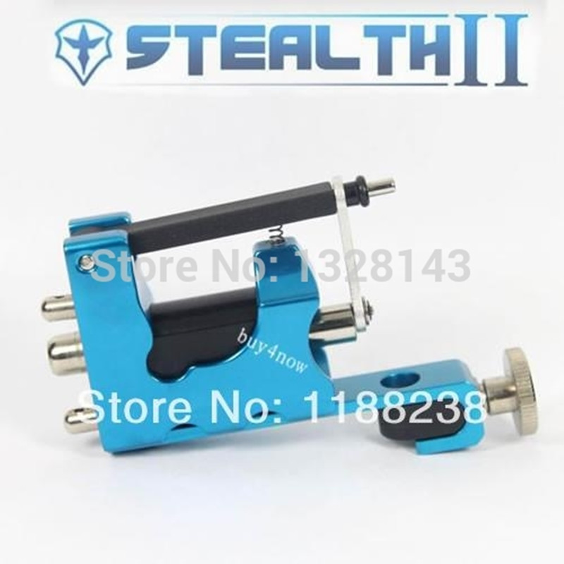 STEALTH ROTARY Aluminum Rotary Tattoo Machine Strong Consistent  Power for Shader & Liner Blue one