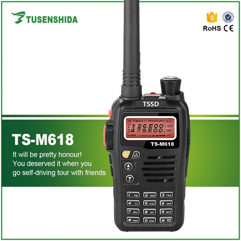 Free Shipping 5W VHF UHF 200 Channels Dual Band Police Radios TS-M618