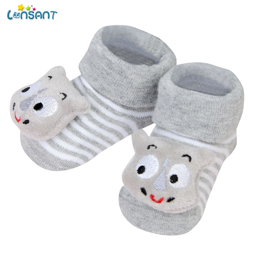 CW/_ Baby Cute Cartoon Non-slip Cotton Toddler Floor Socks Kids Shoes Slipper Soc