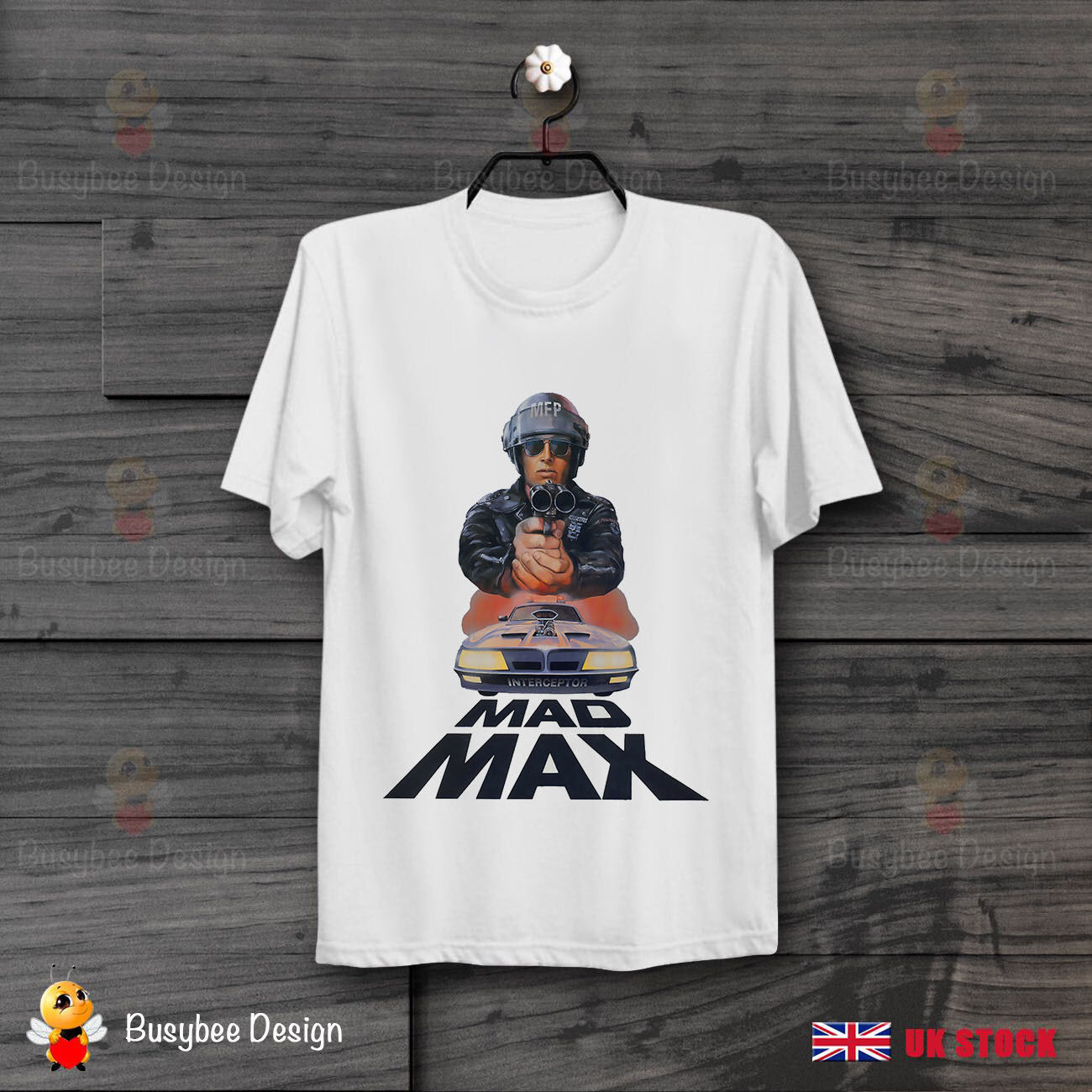 Mad Max MFP Interceptor Action Movie Poster Retro Vintage Unisex T Shirt B198