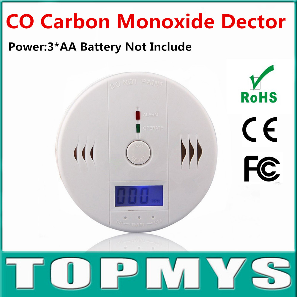 High Sensitive Digital LCD Backlight Carbon Monoxide 85dB Alarm Detector Tester CO Sensor Alarm For Home Security Safety TM-C602 wistino high sensitive alarm detector vibration alarm device anti lost door home security electric aaa dry battery free shipping
