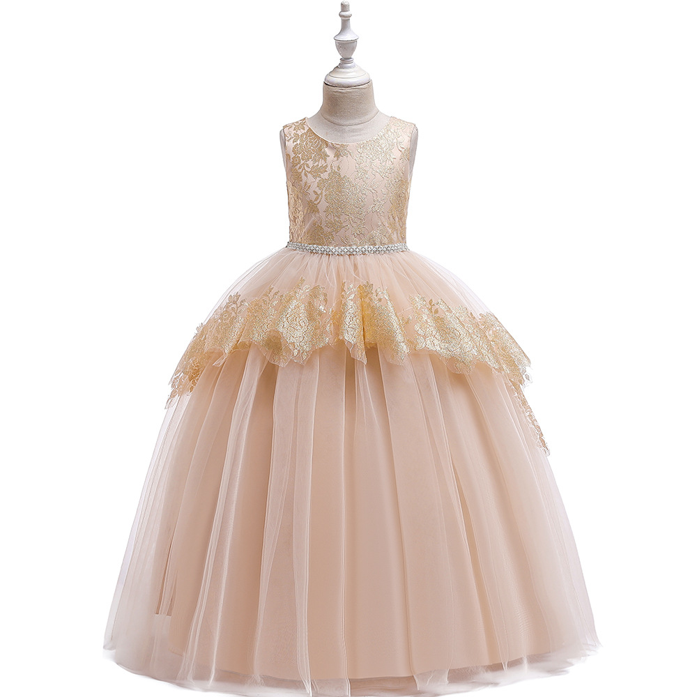 New  Ballgown  Lace Birthday Banquet  Tulle Long Girl's Birthday Party Graduation Party  Dresses in Stock