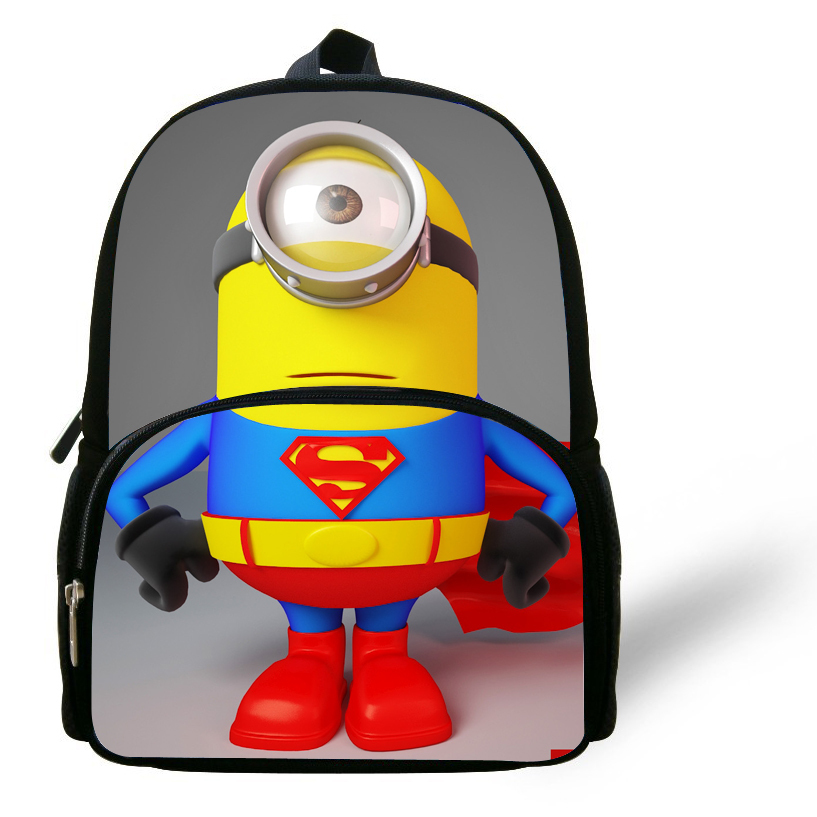 b234fd048d 12-inch Mochilas School Kids Despicable Me Minions Bag Cartoon Boys Bags  Children School Backpacks Minions Print