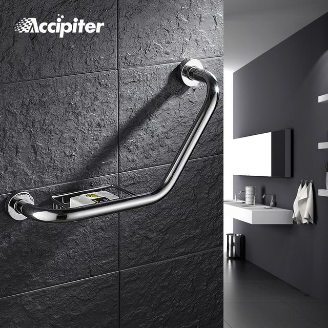 Edelstahl Wandhalterung Badezimmer Badewanne Handlauf Mit Seifenschale  Haltegriffe Behinderung Hilfe Sicherheit Helfen Griff