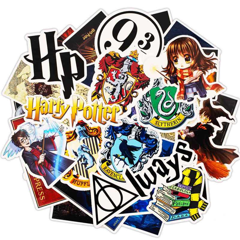 30Pcs Pack Harry Cartoon Stickers Set Toy Travel Sticker For Luggage Skateboard Laptop Stationery Anime Stickers