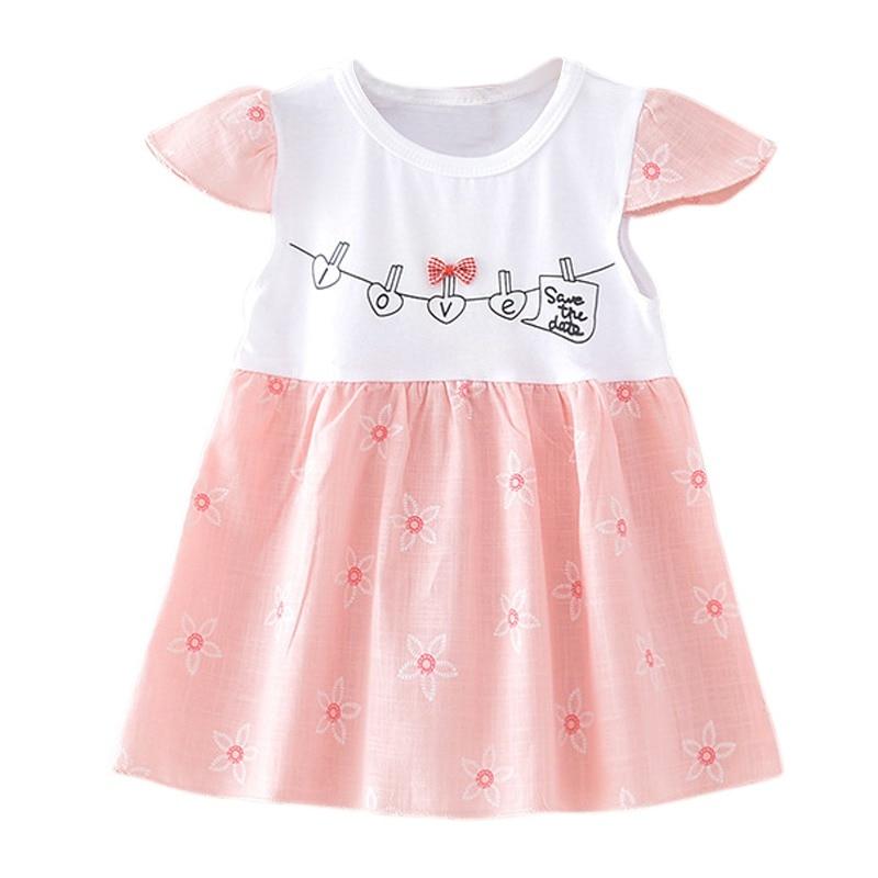 WEIXINBUY Baby Girls Dress 2018 Summer Children Sleeveless Toddler Girls Summer Princess Dress Kids Baby Party Wedding Sleeveles