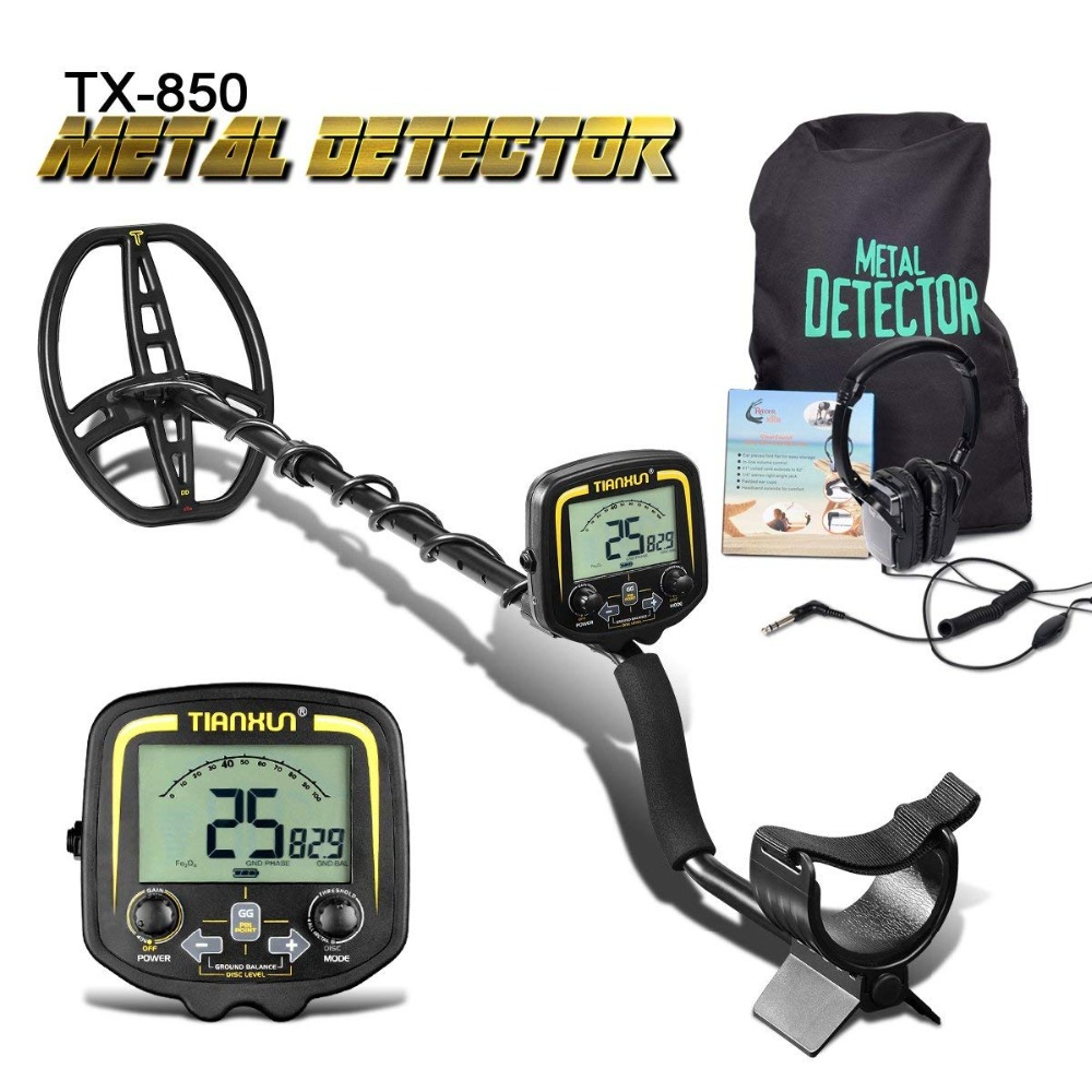 TX-850 Metal Detector Metal Finder LCD Display Discrimination Mode Depth 2.5m Scanner With Headphone&P/P Function NEW Promotions(China)