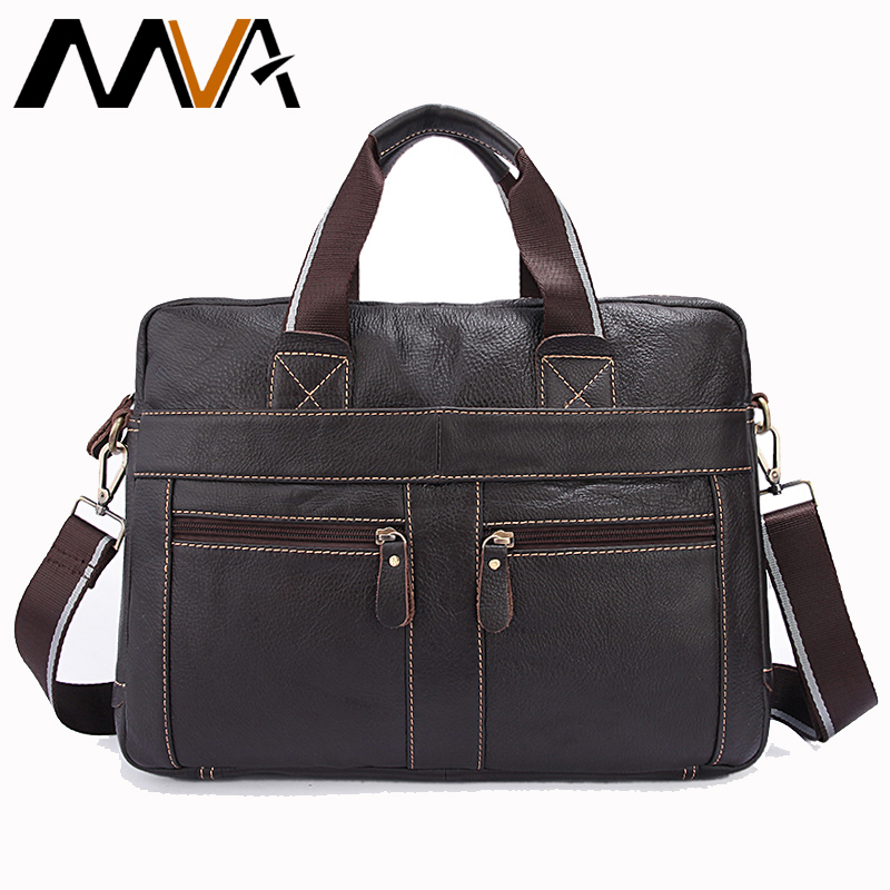 MVA valódi bőr Messenger táska férfi férfi váll Crossbody táskák Laptop táska Férfi Casual Totes táskák Férfi bőr táskák 312