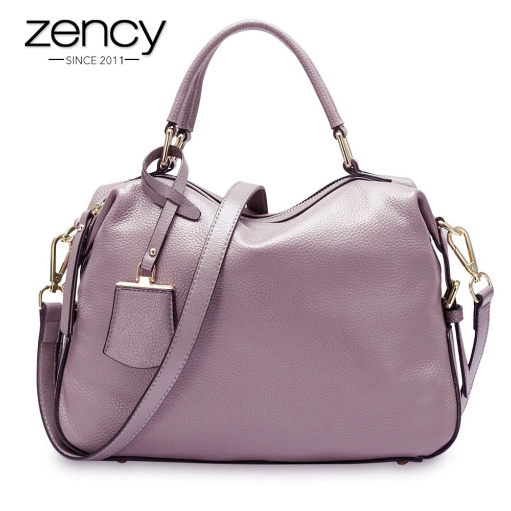 Zency 100% Genuine Leather Handbags Fashion Women Tote Bag Female Boston Charm Luxury Messenger Crossbody Shoulder bolso mujer танцевальный инвентарь dance charm 100