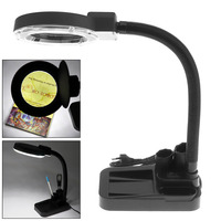 5W High Brightness 30 LED Magnifying Crafts Glass Desk Lamp With 5X 20X Magnifier Loupe And