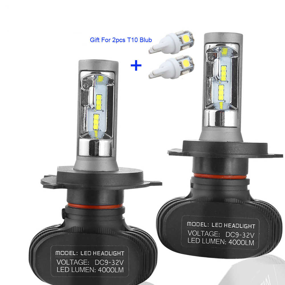 Muxall  Auto Led H7 Headlight 9005 HB3 9006 HB4 H4 Led Car Bulb 6500K CSP Chips 50W 8000lm Fanless H11 Fog Lamp All-in-one
