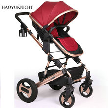 Baby Stroller Child Trolley High Landscape Baby Trolley Baby Car Trolley Can Be Folded in Summer Four Wheels Stroller