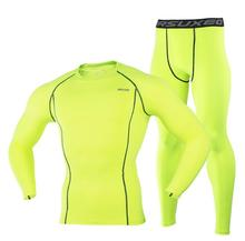 ARSUXEO Men Compression Cycling Base Layer Layers Shirts Running Sets Jersey Sports Suits