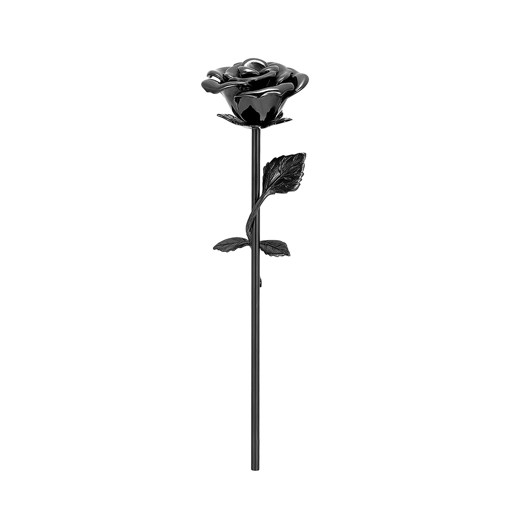 LKJ001 Rose Flower Ashes Memorial Urn Loss of Love Stainless Steel Cremation Jewelry Funeral Urn Ash