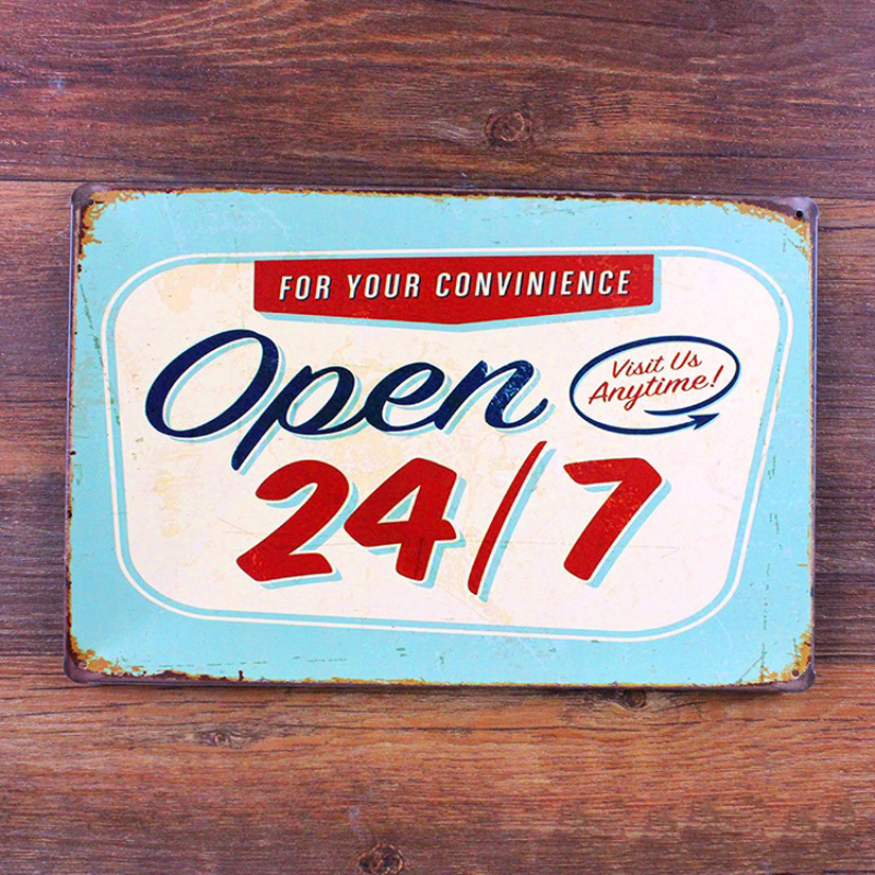 SYF-461 New arrival vintage metal tin signs shop slogan