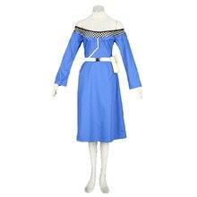 Наруто Terumi Mei mizukage Косплей синее платье костюм комплект