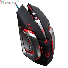 Beautiful Gift New 3500 DPI 6 Button Optical Custom Macros USB Wired Gaming Steel Mouse Mice Wholesale price Dec30