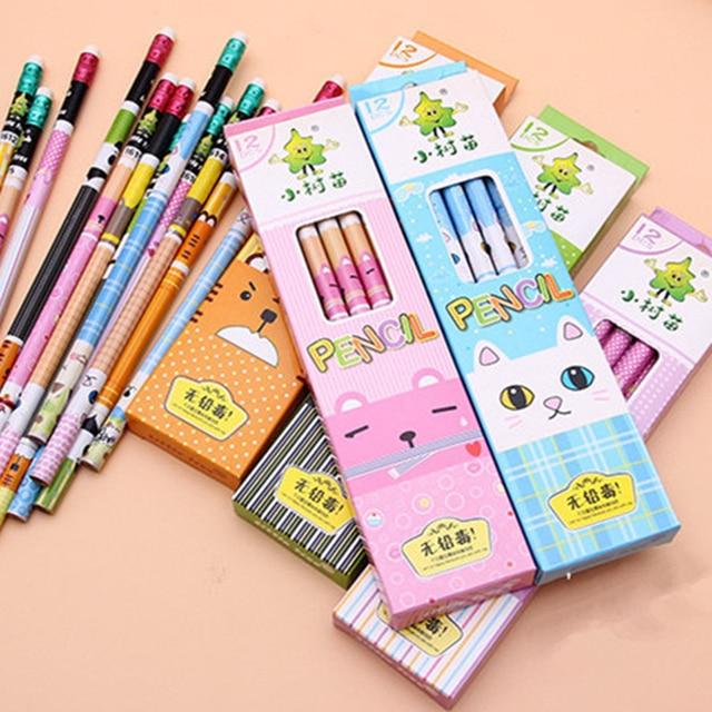 hb pencil material escolar 12 pcs/lot infantil lapis de