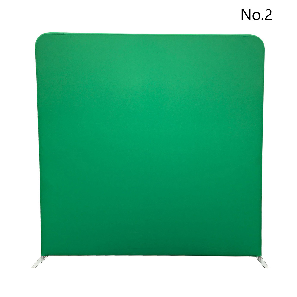 Green color pillow tension fabric backdrop without stand