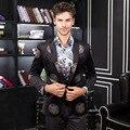 Бесплатная Доставка мужской 2016 мужчина моды случайные Новые костюмы малые печати модерн пиджак маленький костюм внешней торговли куртка на продажа