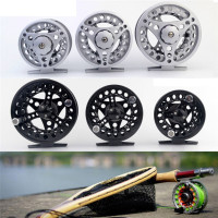 Fly Reel 3 4 5 6 7 8 WT Large Arbor Silver Black Aluminum Fly