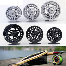 Fly Fishing Reel 3/4/5/6/7/8 WT Large Arbor Silver/Black Aluminum Fly Fishing Reel A3