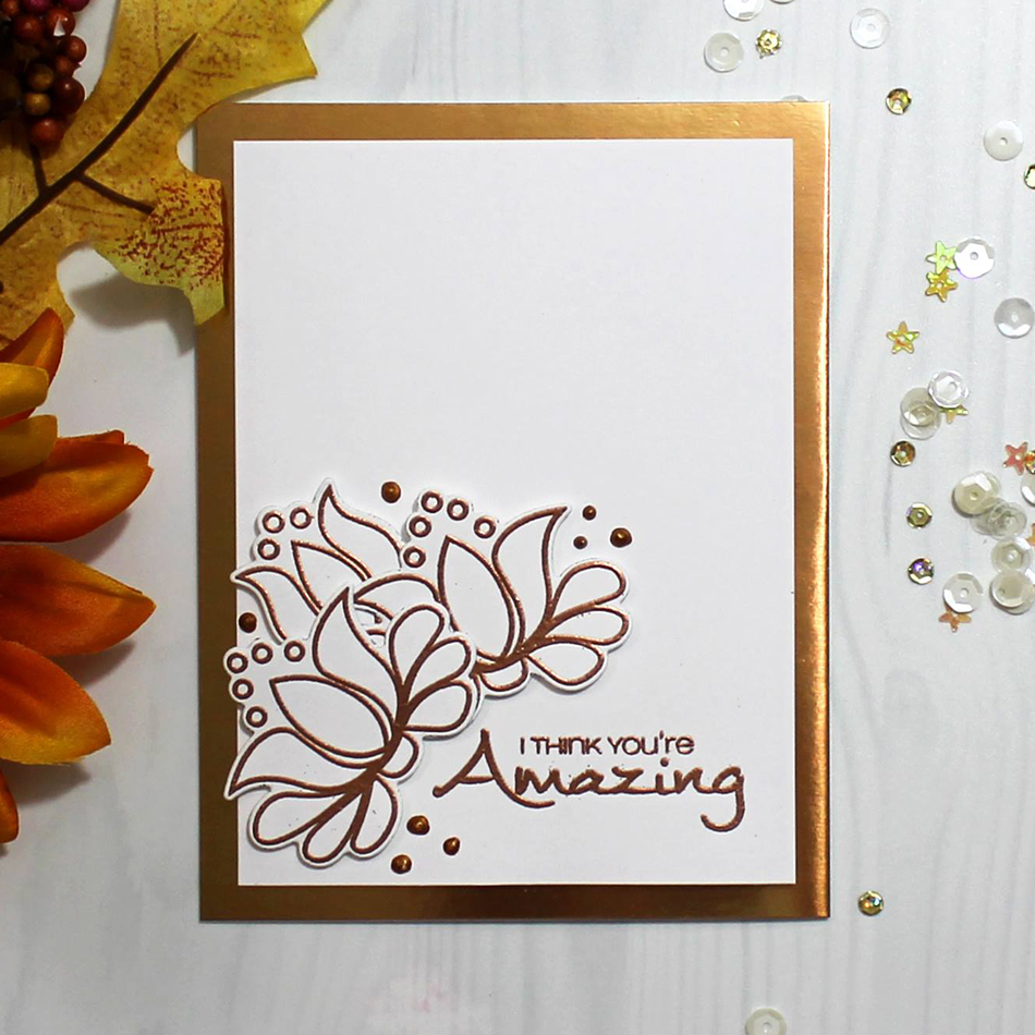 Eastshape Flowers Tulip Happy Metal Cutting Dies Scrapbooking and Clear Stamps for Cards Making Stencil Crafts Stamp Die Set