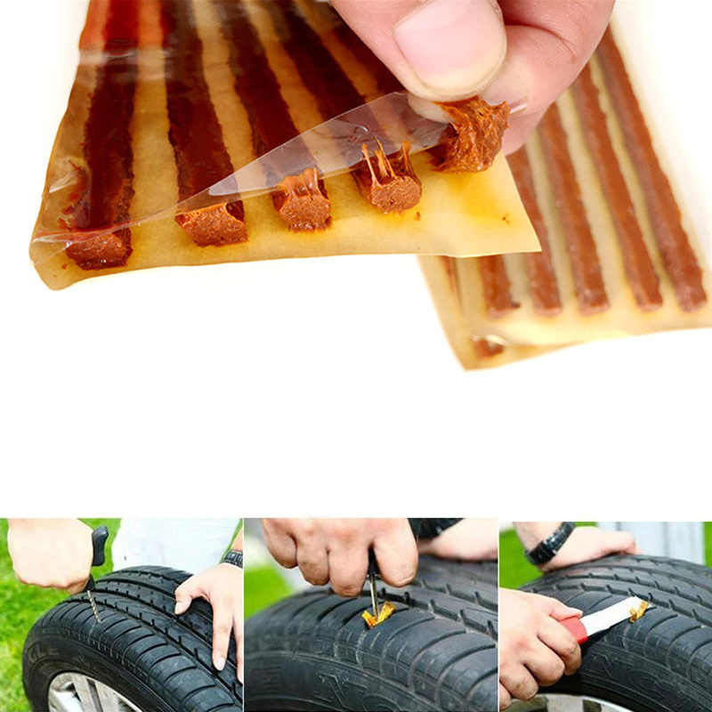 10/20Pcs Auto Tubeless Tire Wheels Puncture Plug Seal Rubber Strip Car Tyre Repair Strip Tire Repair Tools Car Accessories
