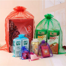 10 Pcs 22 Colors Organza Bags Gift Bag For Festival Party Wedding Jewelry Packing Pouches Drawable 5x7 7x9 9x12 13x18cm(China)