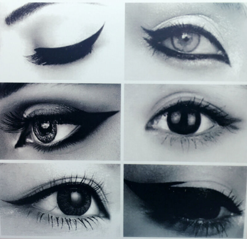 1pcs New Hot Sell 6 In 1 Stencils Eyeliner Template Smoky Makeup Guide Cat Eye Liner Quick Tool