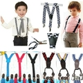 hanging spring and summer Braces Clip baby boy girl belt clip 4 straps hanging trouser clamp strap child in Korea
