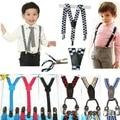 Pendurado primavera e verão Suspensórios Clipe clipe de cinto do bebê da menina do menino 4 cintas de suspensão braçadeira calças cinta criança na Coréia