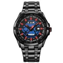 Мужские Из Нержавеющей Стали Солнечные Часы Мощность Спорт Военная Часы Лучший Бренд Класса Люкс Кварцевый Мужчины Смотреть Моды Случайные Часы