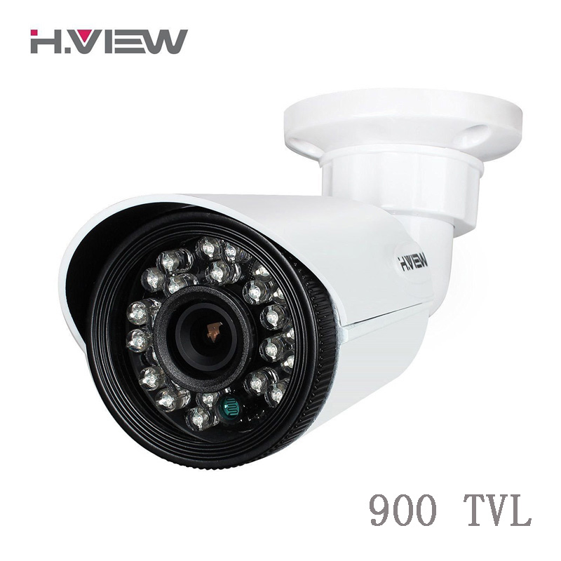 H.view 900TVL Waterproof AHD Camera 24 IR LEDs Nightvision Surveillance Camera 3.6mm Lens  Outdoor CMOS Security Camera IR Cut