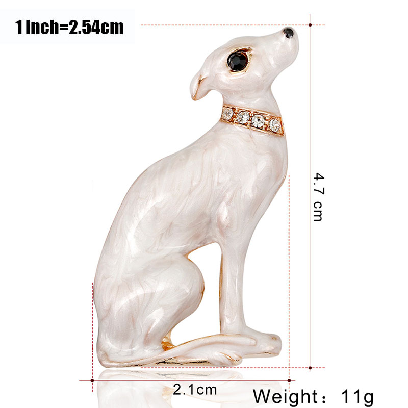 Cute small dog brooches for women men enamel animal brooch pin coat dress accessories bijouterie broches jewelry gift K40 in Brooches from Jewelry Accessories
