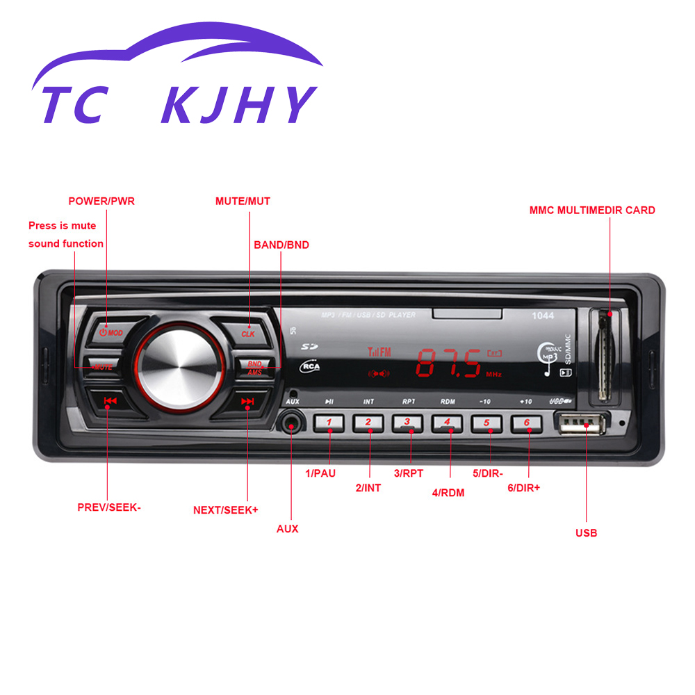 Vehicle MP3 Player Radio Auto Car MP3 Player Vehicle Card Inserting Machine 12VU Disk Machine MP3 Plug in Machine Display