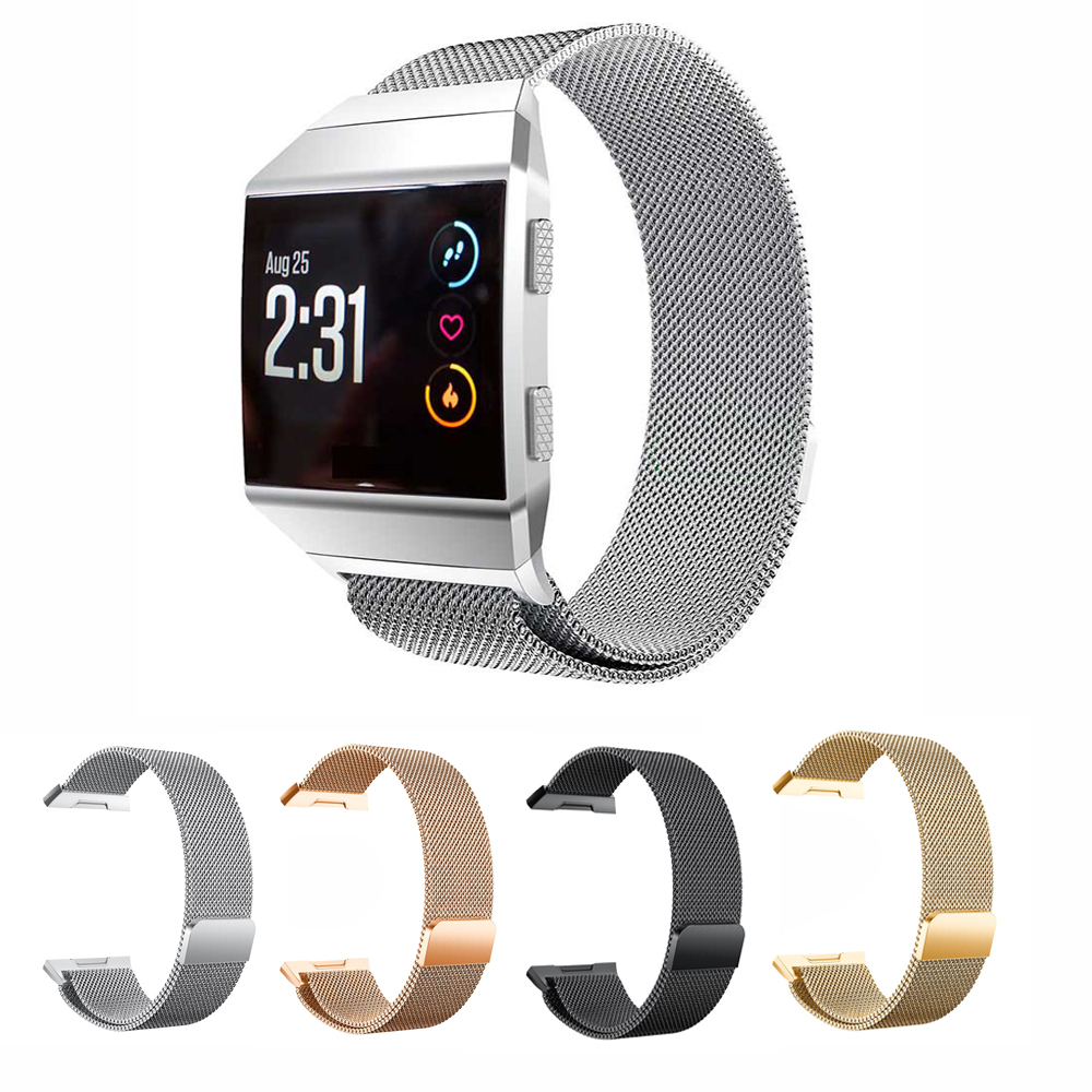 Permalink to Watchband Milanese Loop Band For Fitbit Ionic Magnetic Clasp Bracelet Watchband Strap For Fitbit Ionic Smart Watch