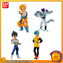 """Dragon Ball SUPER"" Brinquedo 03 Original BANDAI Gashapon FIGURA de ALTO GRAU REAL de Todo o Conjunto-4 Pcs Goku bulma Vegeta Freeza forma final(China)"