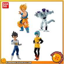 Bandai original de alta qualidade figura real brinquedo gashapon 03 tudo conjunto 4 peças gokou kakarotto bejita bulma freeza formulário final