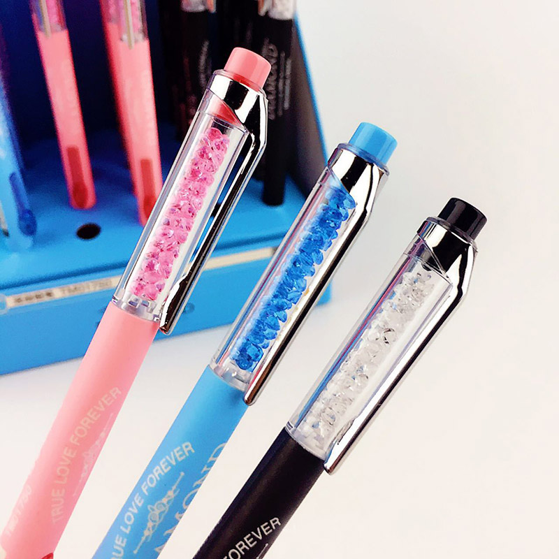 Kawaii Diamond Mechanical Pencil Cute Plastic Colored Automatic Pencils For Kids korean stationery Student