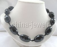 Beautiful 3row 7 10mm Natural Black FW Pearl Necklace